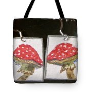 Watercolor Earrings Amanita Tote Bag