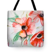 Watercolor Poppy Flower  Tote Bag