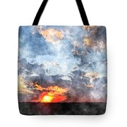 Watercolor Sunrise Tote Bag