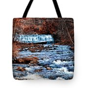 Waterfall Along A Mountain Stream Tote Bag
