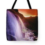 Waterfall At Sunset, Bugaboo Glacier Tote Bag