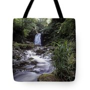 Waterfall In A Forest, Glenoe Tote Bag