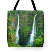 waterfall in Laos Tote Bag