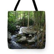 Waterfall In Stream Tote Bag