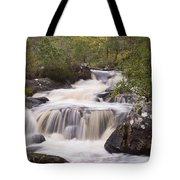 Waterfall In The Highlands Tote Bag