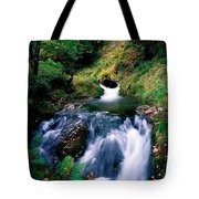 Waterfall In The Woods, Ireland Tote Bag