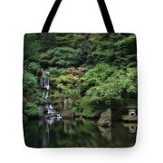 Waterfall - Portland Japanese Garden - Oregon Tote Bag