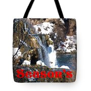 Waterfall Seasons Greeting Tote Bag