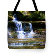 Waterfall Trio At Mcconnells Mill State Park Tote Bag