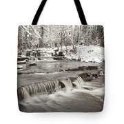 Waterfall With Fresh Snow Thunder Bay Tote Bag by Susan Dykstra
