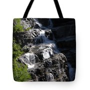 Waterfalls Along Going-to-the-sun Road Tote Bag