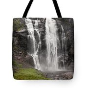 Waterfalls Over A Cliff Norway Tote Bag