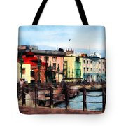 Waterfront Bridgetown Barbados Tote Bag