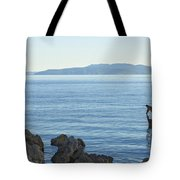 Waterfront Of Opatija Showing Statue Tote Bag