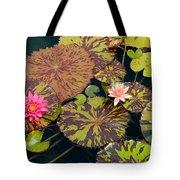 Waterlilies In A Garden Pool Tote Bag