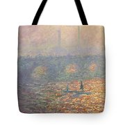 Waterloo Bridge Tote Bag by Claude Monet