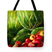 Watermellons And Apples Tote Bag by Elaine Manley