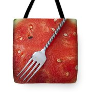 Watermelon And Fork Tote Bag