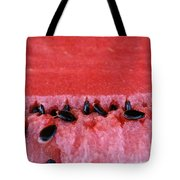 Watermelon Seeds Tote Bag by Susan Herber