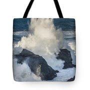 Wave Meets Seastack Tote Bag