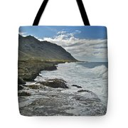 Waves At Kaena State Park 7847 Tote Bag