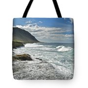 Waves Breaking On Shore 7876 Tote Bag