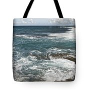Waves Breaking On Shore  7918 Tote Bag