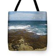 Waves Breaking On Shore 7930 Tote Bag