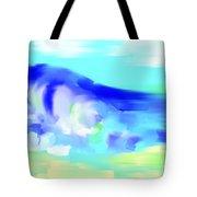 Waves Crashing On The Beach Tote Bag