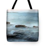 Waves On The Coast Tote Bag