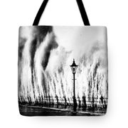 Waves Smashing Seawall, 1938 Tote Bag