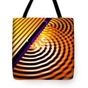 Waves Two Slit 2 Tote Bag by Russell Kightley
