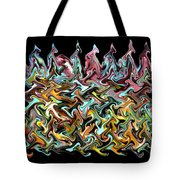 Wax On Iron Filings Morphed Tote Bag by Carl Deaville