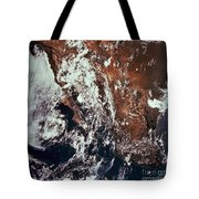 Weather Patterns Over Earth Tote Bag