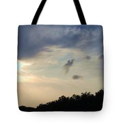 Weather Signs At Sunset Tote Bag