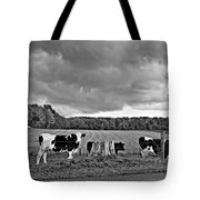 Weather Talk Monochrome Tote Bag