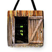 Weathered Barn Door Tote Bag
