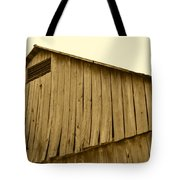 Weathered Barn II In Sepia Tote Bag