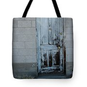 Weathered Door Virginia City Nevada Tote Bag
