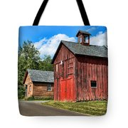 Weathered Red Barn Tote Bag