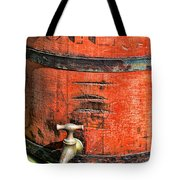 Weathered Red Oil Bucket Tote Bag