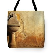 Weathered Water Faucet Tote Bag