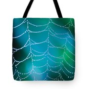 Web With Dew Droplets Tote Bag