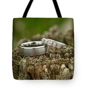 Wedding Bands And Fence Post 12 Tote Bag