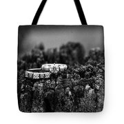Wedding Bands On Stump Tote Bag