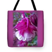 Wedding Blessings Greeting Card - Columbine Blossom Tote Bag