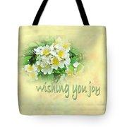 Wedding Wishing You Joy Greeting Card - Wildflower Multiflora Roses Tote Bag