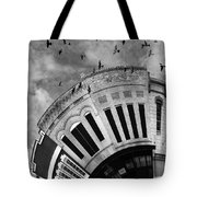 Wee Bryan Texas Detail In Black And White Tote Bag