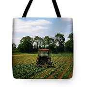 Weeding A Cabbage Field, Ireland Tote Bag