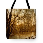 Weeping Willow And Bridge Tote Bag